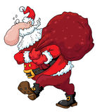 Santa. Illustration of funny christmas Santa Royalty Free Stock Images