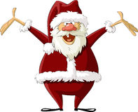 Santa. On a white background, vector royalty free illustration