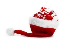 шлем santa Стоковое Изображение RF