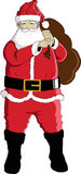 Santa. Cheerful face of Santa claus Stock Photography