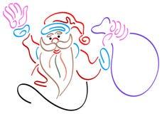 Santa illustration stock