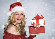 Santa 3 com neve fotografia de stock