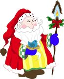Santa. Claus with blue bird and light royalty free illustration