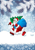 Santa obrazy royalty free
