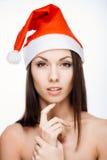 Шикарная девушка santa Стоковое Изображение RF