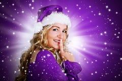Santa 5_violet Royalty Free Stock Image