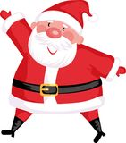 Santa. Funny santa in a red cap Stock Images