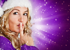 Santa 6_violet Stock Photography