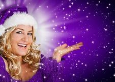 Santa 8_violet 2 Royalty Free Stock Images