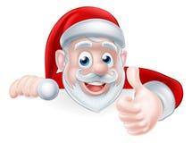 Santa Above Sign Thumbs Up Photos stock