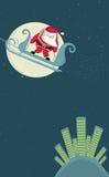 Santa acima da cidade Fotos de Stock Royalty Free