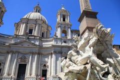 Piazza Navona Square, Rome, Italy Royalty Free Stock Photos