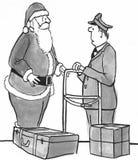 Santa at Airport Royalty Free Stock Photo