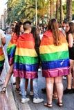 People celebrating Gay Pride in Spain stock image