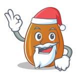Santa almond nut character cartoon Royalty Free Stock Photo