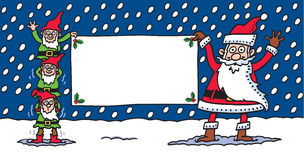 Santa & elfi Fotografia Stock