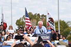 SANTA ANA, CALIFORNIA - 21 FEB 2020: Bernie Sanders speaks to supporters at an outdoor rally in Santa Ana