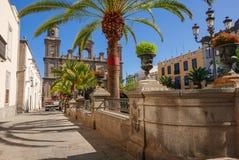 Santa Ana Catedral, plac Santa Ana, Vegueta Stary miasteczko w las palmas zdjęcie royalty free