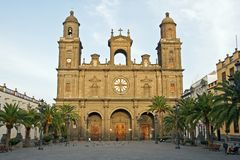 Santa Ana Cathedral. A picture of the Santa Ana Cathedral on Plaza de Santa Ana in Las Palmas de Gran Canaria stock photo