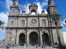 Santa Ana Cathedral Las Palmas de Gran Canaria royaltyfria bilder