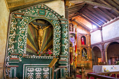 Santa Ana Church Altar. Statue of Jesus and the altar in the UNESCO World Heritage Jesuit Mission in Santa Ana, Bolivia stock images
