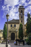 Santa Ana Church in daylaight, Granada, Spain Royalty Free Stock Photo