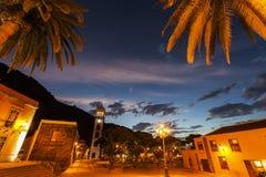 Santa Ana Church em Garachico no por do sol Foto de Stock Royalty Free