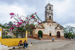 Santa Ana Church in Trinidad, Cuba Stock Fotografie