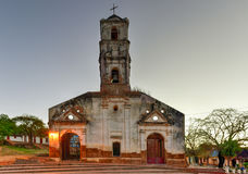 Santa Ana Church - Trinidad, Cuba. Ruins of the colonial catholic church of Santa Ana in Trinidad, Cuba at dawn royalty free stock photos