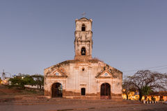 Santa Ana Church - Trinidad, Cuba. Ruins of the colonial catholic church of Santa Ana in Trinidad, Cuba at night royalty free stock photography