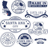 Santa Ana city, CA. Stamps and signs Royalty Free Stock Image