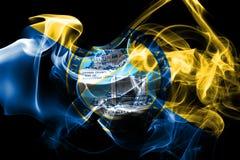 Santa Ana city smoke flag, California State, United States Of Am. Erica vector illustration