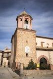 Santa Ana kościół w Tramacastilla miasteczku Obrazy Royalty Free