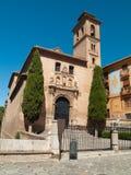 Santa Ana kyrka, Granada, Andalucia, Spanien Royaltyfria Bilder