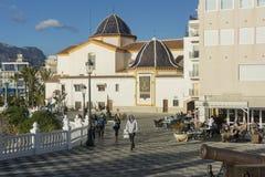 Santa Ana plac, Benidorm, Hiszpania zdjęcie stock