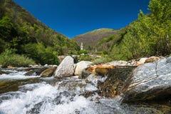 Santa Ana in the valley of Canobbio Stock Photo