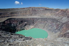 Santa Ana volcano crater in El Salvador. Crater lake on Santa Ana volcano in El Salvador stock photography