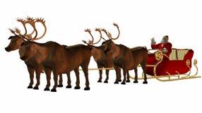 Free Santa And Sled Stock Photography - 1304372