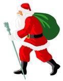 Santa andante Fotografie Stock