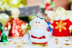 Santa and angel Christmas toy decoration. or New Year concept Stock Images