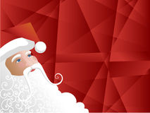 Santa angles. Santa looking into the red background. Vector illustration Stock Images