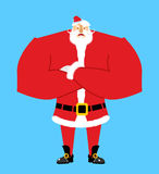 Santa angry. Aggressive Santa Claus. Christmas Grandfather with Royalty Free Stock Images