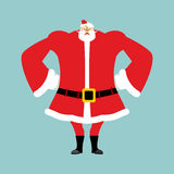 Santa angry. Aggressive Santa Claus. Royalty Free Stock Photo