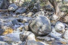 Santa Anita Creek bij San Gabriel Mountain Royalty-vrije Stock Afbeeldingen