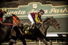 Santa Anita Horse Racing Track imagens de stock