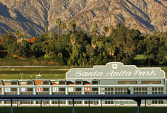Santa Anita Park. Historic Santa Anita Park at the base of the San Gabriel Mountains in Arcadia, California on December 28, 2008. A popular tourist attraction stock photography