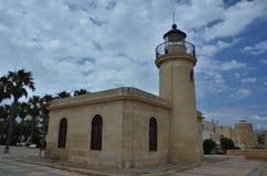 Santa Anna Lighthouse en Roquetas de marcha imagen de archivo libre de regalías