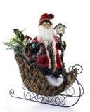 Santa antiquado no trenó Imagens de Stock Royalty Free