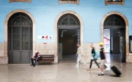 Santa Apolonia Station i Lissabon Royaltyfri Bild