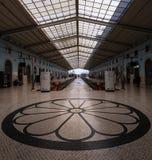 Santa Apolonia Station i Lissabon portugal royaltyfria foton